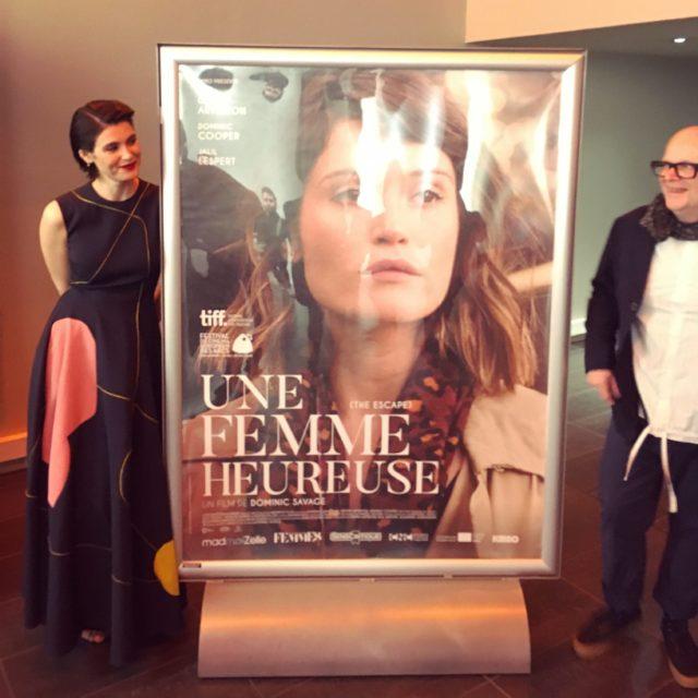 """Avant-première """"Une femme heureuse"""" - Présentation de Dominic Savage et Gemma Arterton"""